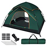 UOUNE Camping Zelt 3-4 Personen Kuppelzelt Wasserdicht Zelt Ultraleichte UV Schutz Wurfzelt für Familiengarten Camping Trekking
