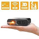 JHSHENGSHI Beamer,Mini Beamer Tragbar Projektor Aktualisierte Heimkino Unterstützt Full HD Unterstützt 1080P TV Box/Chromecast iPhone Android Handybeamer...
