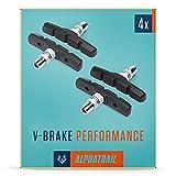 Alphatrail V-Brake Bremsbeläge 2 Paar 70mm I Hohe Bremskraft im Alltag I Langlebiger Bremsbelag & 100% Passgenau für V-Brakes von Shimano, Tektro, Avid, SRAM,...