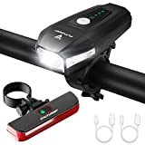 FUTURIST StVZO Zugelassen LED Fahrradbeleuchtungsset, Fahrradlicht Set USB Aufladbar Akku, Wasserdicht Fahrradlampe, Super Helle Bike Light, Rennrad Licht...