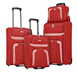 Gepäck Serie ORLANDO: Klassischer Weichgepäck Trolley von travelite im zeitlosen Design, 2-Rad Koffer Set Größen L/M/S + Bordtasche, Handgepäck erfüllt...