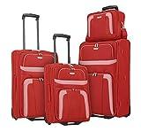 Travelite ORLANDO Koffer, Koffer Set 2-Rad (L/M/S/BT), Rot