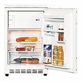 Amica UKS16157 Unterbaukühlschrank dekorfähig mit Gefrierfach / A++ / 81,6 cm Höhe / 128 kWh/Jahr / 68 Liter Kühlteil / 17 Liter Gefrierteil / wechselbarer...
