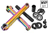 KHE MVP BMX Kurbel-Set 8T MID BB CrMo 19mm Achse Oil-Slick Jet Fuel 170mm - R1