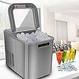 VINGO Eiswürfelmaschine, Eismaschine mit Kompressor, 12 kg 24 h, 6 Minuten Produktionszeit, 2 Würfelgrößen, 2.2 L, Selbstreinigungsfunktion, 120W...