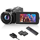 Videokamera 1080P Wlan, MELCAM Vlogging Kamera FHD 30FPS 36MP für YouTube, Streaming-Video Aufnehmen, Camcorder mit IR Nachtsicht, 3.0 '' IPS-Bildschirm, 16X...