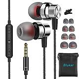 In Ear Kopfhörer, Blukar Stereo Ohrhörer mit Mikrofon, Lautstärkeregler, Ohrstöpseln und Premium HiFi-Klang, Geräuschabsenkung Kopfhörer für iPhone,...