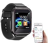 simvalley MOBILE Telefon Uhr: 2in1-Handy-Uhr & Smartwatch für Android, Touch-Display, Bluetooth, App (Fitnessarmbanduhr)