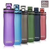 Opard Trinkflasche Sport 600ml - Wasserflasche aus Tritan BPA-Frei, auslaufsichere Sportflasche, Kunststoff Water Bottle mit Sieb - Mit 1 klick öffnen - für...