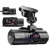 VANTRUE N4 3 Lens Dashcam 1440P + Dual 1080P Kamera Auto, 4K 3840x 2160P vorne, Infrarot-Cut Nachtsicht, 24/7 Parkmodus, WDR 2.45 Zoll IPS, Hitzebeständig...
