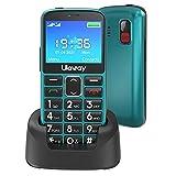 Uleway Seniorenhandy mit großen Tasten und Mobiltelefon ohne Vertrag,2,3 Zoll LCD|Hörgeräte kompatibel|SOS-Funktion |Dual SIM Handy |Taschenlampe und...