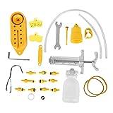 Alomejor Bike Brake Bleed Kit Hydraulisches Fahrrad Scheibenbremse Werkzeugsatz Bike Disc Bremssystem Mineralöl Bleed Repair Tool Kit