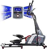 HAMMER Ellipsentrainer Speed-Motion BT, leises Trainingsgerät mit Bluetooth & App-Steuerung, Smartphone- und Tablethalterung, Cardiogerät mit...