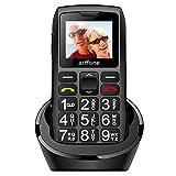 artfone Seniorenhandy mit großen Tasten und ohne Vertrag, Dual SIM Rentner Handy mit Notruf-Knopf, 1400 mAh Akku Lange Standby-Zeit - 1,77 Zoll Farbdisplay -...