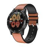 Smartwatch Blutdruck Fitness Armbanduhr mit Pulsmesser IP68 Wasserdicht Smart watch Fitness Uhr Aktivitätstracker Schrittzähler Schlafmonitor Kalorienzähler Sport Uhr Damen Herren für iOS Android