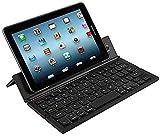 Ovegna CL8 Tragbare und faltbare kabellose Bluetooth-Tastatur (QWERTZ), für Smartphones, Tablets, Computer, Spielekonsolen, iOS, Android, Windows (schwarz)