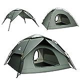 BFULL Pop-up Familie Camping Zelt 4-5 Personen, wasserdicht belüftet abnehmbare Instant-Zelt, schnell einrichten Kuppelzelt für Outdoor-Camping, Wandern,...
