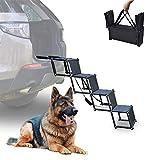 Alsanda Hundetreppe Hunderampe Klappbar für Auto   Einstiegshilfe Kofferraumeinstieg   Gelenkschonend   Tragbar   Faltbar   Hundeleiter für Ihr Hund und...