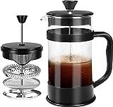 [1 Liter/ 1000 ml] 8 cups Kaffeebereiter mit Edelstahl Filter - French Press Kaffeemaschine - Französische Kaffeepresse - Französisches Pressensystem -...