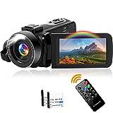 Videokamera Camcorder Full HD 2.7K 42MP Camcorder 18X Digitalzoom mit LED Fülllicht Digitalkamera 3,0 Zoll IPS-BildschirmVlogging Kamera für YouTube, mit 2...