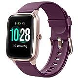 Letsfit Smartwatch, 1.3 Zoll Touchscreen Fitness Armbanduhr, Fitness Tracker mit Pulsuhr, IP68 Wasserdicht Sportuhr mit Schrittzähler Schlafmonitor, Smart...