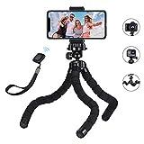 Mpow Handy Stativ Monkeystick Mini Stativ Kamera mit Bluetooth Fernsteuerung, Flexibles Handystativ für Gopro, Smartphone und Kamera, iPhone 11/11 PRO...