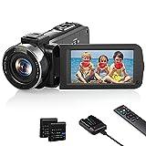 Videokamera 1080P Camcorder, Vlogging Kamera Recorder FHD 30FPS 36 MP für YouTube, IR Nachtsicht Camcorder 3.0 '' IPS-Bildschirm 16X Digital Zoom Digitalkamera...