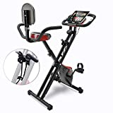 Sportstech Fitness Heimtrainer mit LCD-Konsole & Zugbandsystem   Deutsche Qualitätsmarke   Hometrainer Fahrrad mit Komfortsitz & Handpulssensoren   faltbares...