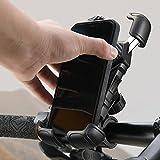 Handyhalterung Fahrrad Lenker, [Niemals abfallen] Lisen Handyhalter Motorrad - Universal 360 Drehung Halter Mountainbike halterung Handy iphone Ständer für...