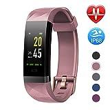 Letsfit Fitness Armband Farbbildschirm mit Pulsmesser, Fitness Tracker IP68 Wasserdicht 0,96 Zoll Aktivitätstracker Schrittzähler Pulsuhren Smart Watch für...
