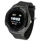 JBC Kinder GPS Uhr | Smart Watch | SOS Telefon | GPSTracker Ohne Abhörfunktion (Schwarz)