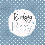 Baby Boy Geschenk Babyalbum erstes Jahr zum ausfüllen Junge blau Baby Buch Erinnerungsbuch | Geschenkidee zur Geburt für werdende Eltern: 21,6 cm x 21,6 cm |...