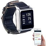 Newgen Medicals Uhr Blutdruck: Medizinische Blutdruck-Armbanduhr mit Pumpe, E-Ink, Bluetooth & App (Medizinische Uhr Blutdruck)