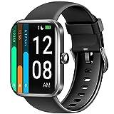 LETSCOM Smartwatch für Damen Herren, 1.69 Zoll Fitness Armbanduhr mit Schrittzähler, Pulsuhr und Blutsauerstoffsättigung, 5ATM wasserdichte Sportuhr Smart...