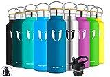 Super Sparrow Trinkflasche Edelstahl Wasserflasche - 750ml - Isolier Flasche mit Perfekte Thermosflasche für Das Laufen, Fitness, Yoga, Im Freien und Camping |...