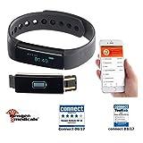newgen medicals Uhr mit Vibrationsalarm: Fitness-Armband FBT-25, Bluetooth, Benachrichtigungen, OLED, IP67 (Tracker)