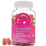 IvyBears Haar Vitamine vollgepackt mit Biotin, Folsäure, Haarvitamine und Mineralstoffen, pink, 60 stück