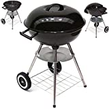 D&L Kugelgrill XL Holzkohlegrill 43cm Standgrill Rundgrill Kohle Grill BBQ 56514, Outdoor Grill, Camping Grill AWZ