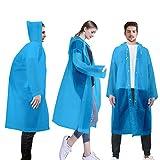 LAMA Unisex Regenponcho 3 Stück Regenmantel Wiederverwendbar Regenbekleidung Regencape Regenjacke Raincoat für Herren Damen Fahrrad Wandern Camping Reisen...