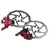 SOWLFE Mountainbike Fahrrad Hydraulische Scheibenbremse, Zoom HB-100 Line Pull Vorne Hinten ldruckscheibenbremse, lscheibenbremse Gert