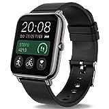 Popglory Smartwatch, Fitness Tracker mit Blutdruckmessung Fitness Armbanduhr mit Pulsuhr Schlafmonitor IP67 Wasserdicht Sportuhr Schrittzähler für Android und...