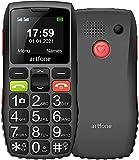 artfone GSM Seniorenhandy ohne Vertrag   Dual SIM Handy mit SOS Notruftaste   Rentner Handy großen Tasten   Großtastenhandy mit Ladegerät und Kamera   Lautes...