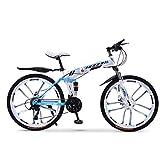 LHQ-HQ Mountainbike Falträder, 27Speed Doppelscheibenbremse Fully Antislip, Offroad Variable Speed Racing Bikes for Männer und Frauen...