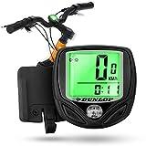 Dunlop Fahrradcomputer Fahrradtacho Fahrrad Tacho - Blitzmontage - Wasserdicht - Leicht - Batterie sparend - Kabellos drahtlos Speed Bike Sensor bundle...