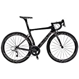 BIKERISK Carbon-Straßen-Fahrrad 700C Carbon-Bike Racing Rennrad Carbon-Fahrrad mit Shimano Ultegra R8000 22 Geschwindigkeit Fahrrad Velo de Route,Grau,47cm