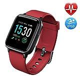 Duang Smartwatch, Bluetooth Fitnessuhr Damen Fitness Tracker Herren, 1,3-Zoll-Farbbildschirm Sportuhr mit Schrittzähler Pulsmesser Schwimmen wasserdicht IP68,...
