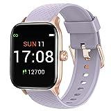 Letsfit Smartwatch für Damen Herren, 1.3 Zoll Voll Touchscreen Fitness Tracker mit Pulsuhr Schlafmonitor & Blutsauerstoffsättigung, Fitnessuhr mit...