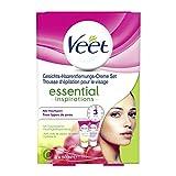 Veet Gesicht Haarentfernungs-Creme Set für sensible Haut mit Aloe Vera und Vitamin E, 2er Pack (2 x 50 ml)