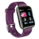 KawKaw Smartwatch mit Pulsmesser & Schrittzähler für Damen und Herren - Integrierter Kalorienzähler & Activity Tracker Blutdruckmesser - Smart Watch Armband...