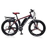 Elektrische Fahrräder für Erwachsene, Magnesium-Legierung Ebikes Fahrräder All Terrain, 26' 36V 350W 13Ah austauschbaren Lithium-Ionen-Akku Berg Ebike für...